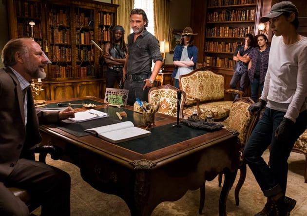 Rick talks to Gregory - The Walking Dead Season 7 Episode 9
