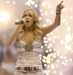 Carrie Underwood Does Football