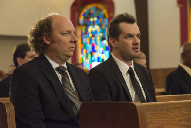 Steve and Jim at a funeral