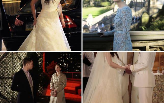Blair waldorf wedding gown
