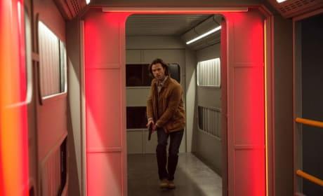 Sam races down the hallway - Supernatural Season 12 Episode 22