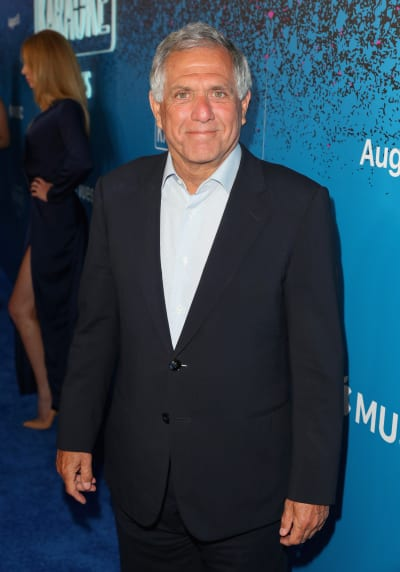 Les Moonves Smiles