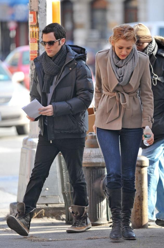 Blake and Penn on Set