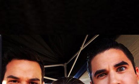 Skylar Astin on Glee Set