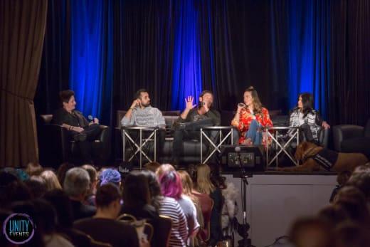 Marie Avgeropoulos, Zach McGowan, Tasya Teles, Sachin Sahel - Unity Days - The 100