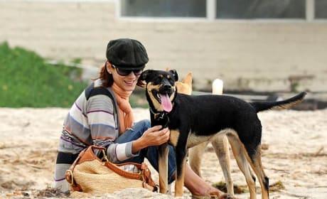 Kate Walsh and Pup