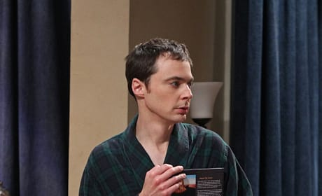 Sheldon in a Robe with Geology