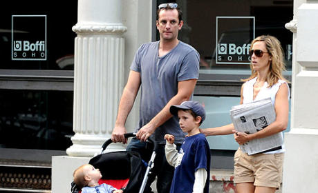 Kim Raver and Family Out for Stroll