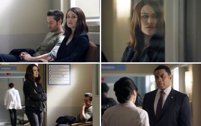 Liz and tom patiently wait in the hospital the blacklist season