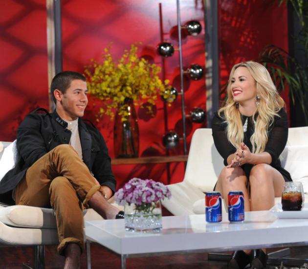 Demi and Nick Jonas
