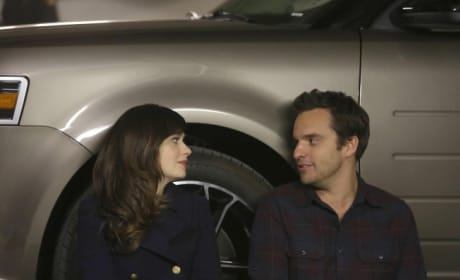 Jess & Nick in a Parking Space