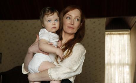 Katarina holds her baby - The Blacklist Season 4 Episode 17