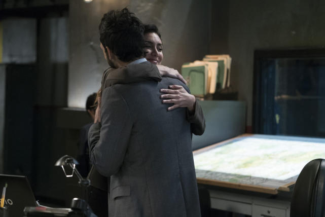 Samar hugs Aram! - The Blacklist Season 4 Episode 9