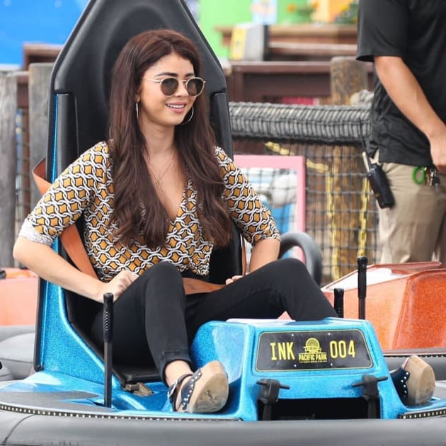 Haley on the bumper cars - Modern Family Season 10 Episode 7