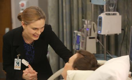Brennan Helps Daisy During Labor - Bones Season 10 Episode 8