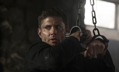 Dean all locked up - Supernatural Season 12 Episode 2