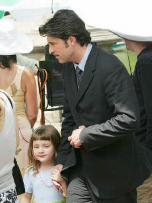 Patrick Dempsey on the Set