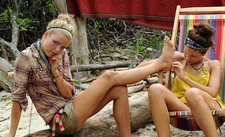 Natalie Checks Andrea's Foot