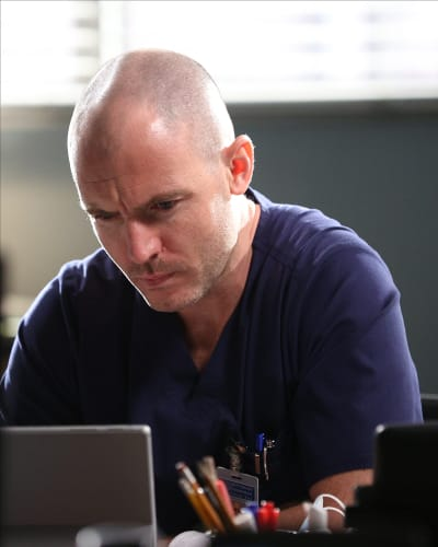 Hayes Deep In Thought  - Grey's Anatomy Season 17 Episode 11