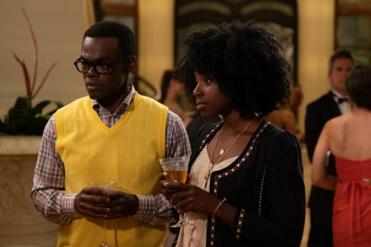 Chidi and Simmone - The Good Place Season 3 Episode 4