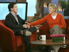 T.R. Knight and Ellen DeGeneres