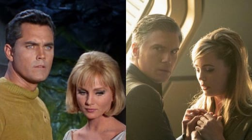 Pike and Vina Now and Then - Star Trek: Discovery Season 2 Episode 8
