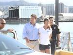Vanessa Minnillo and Nick Lachey on Hawaii Five-O