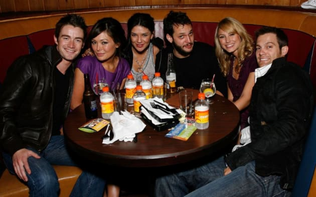 Robert Buckley and Lindsay Price