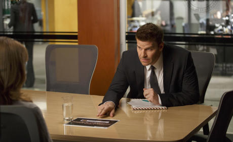 """Booth Questions Sandra Zins in """"The Lost Love in the Foreign Land"""" - Bones Season 10 Episode 6"""