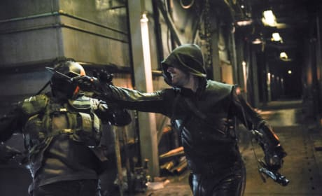 Arrow Throws a Punch