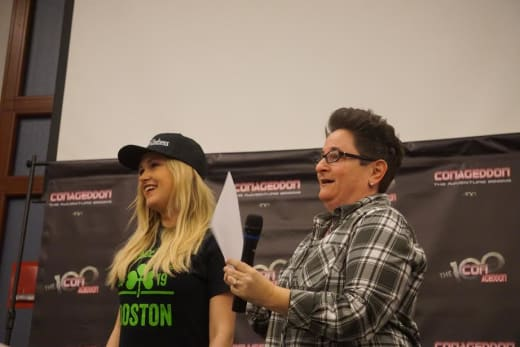 Eliza Taylor and Jo Garfein at Conageddon 2019 - The 100