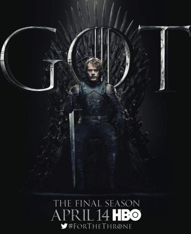 Theon on the Iron Throne - Game of Thrones