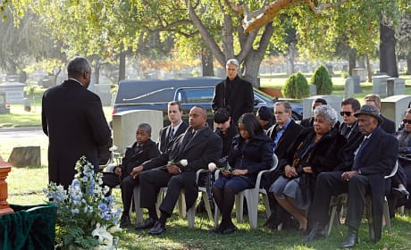 Vance at Funeral