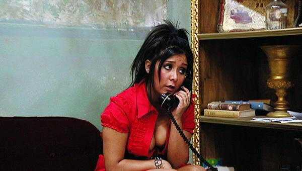 Snooki on the Phone