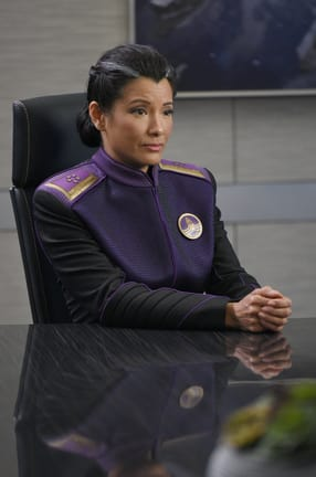 Kelly Hu on the Orville Season 1 Episode 6