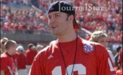 Scott Porter Attends Nebraska-Texas A&M Game