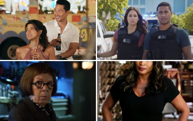 Kono and chin on the beach hawaii five 0