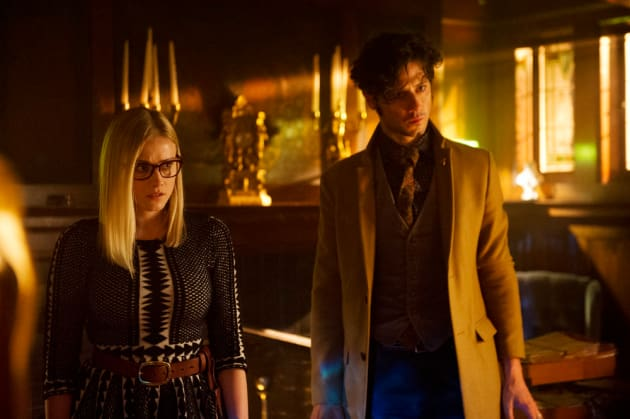 Worried Alice and Penny - The Magicians Season 2 Episode 1