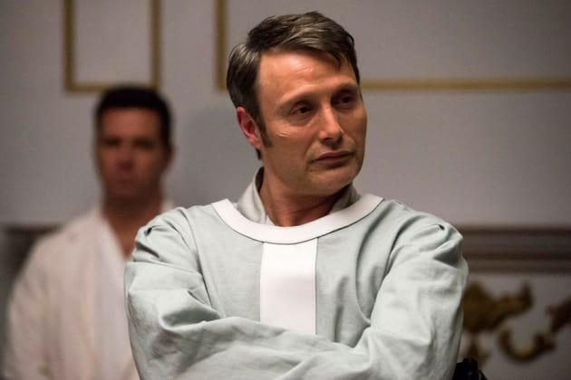 Hannibal looking smug - Hannibal Season 3 Episode 12