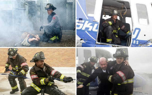 Chopper down chicago fire