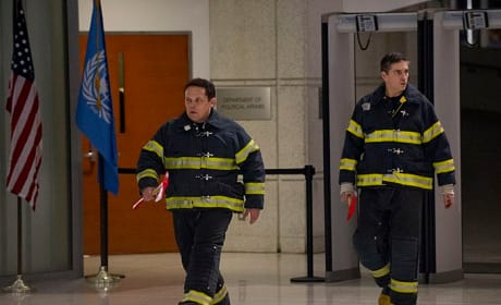 Fusco and Reese as Firefighters