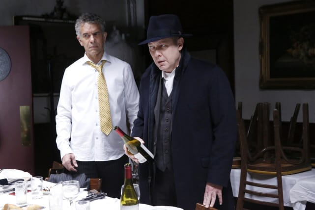 Red can't decide on the wine - The Blacklist Season 4 Episode 15