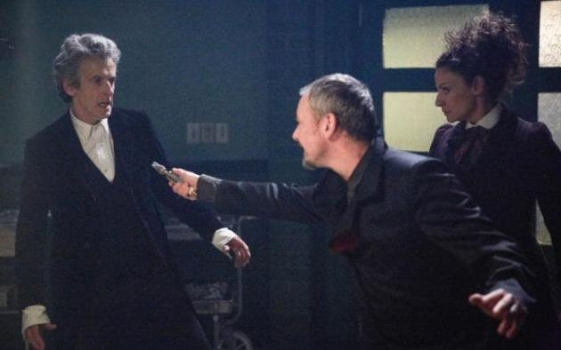 Master Holding a Knife to Doctor - Doctor Who Season 10 Episode 13