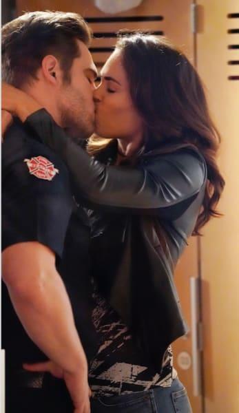 Jack and Eva kiss - Station 19 Season 3 Episode 3