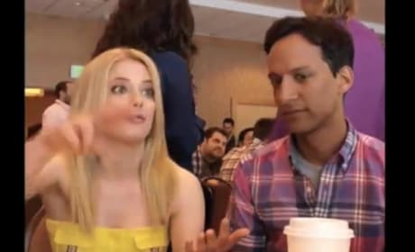 Gillian Jacobs and Danny Pudi at Comic-Con