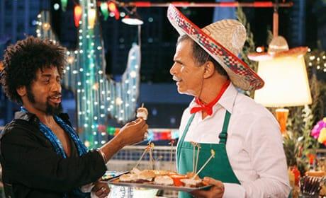 Ignacio Serves Food