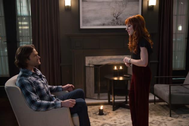 Rowena And Sam - Supernatural Season 13 Episode 19