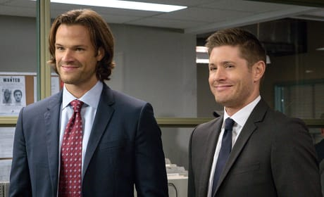 Grinning from ear to ear - Supernatural Season 11 Episode 7