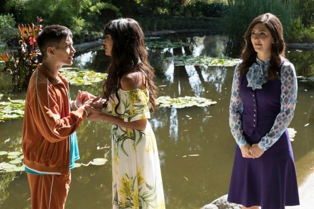 Jason, Tahani, and Janet - The Good Place Season 2 Episode 8