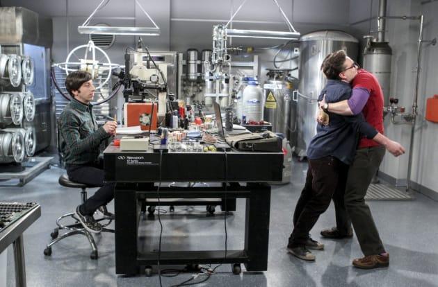 Sheldon Hugs Leonard - The Big Bang Theory Season 10 Episode 15